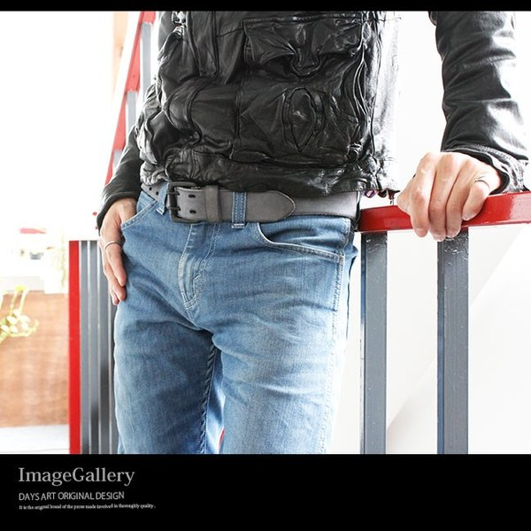 ベルト 本革 メンズ 牛革 レザー 大きいサイズ ヌバックレザー 起毛 ダブルホール バックルベルト ビンテージ加工|asianarts|11