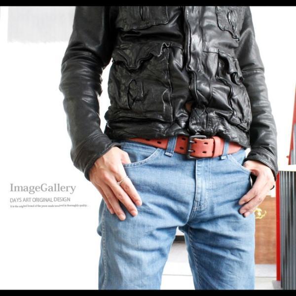 ベルト 本革 メンズ 牛革 レザー 大きいサイズ ヌバックレザー 起毛 ダブルホール バックルベルト ビンテージ加工|asianarts|09
