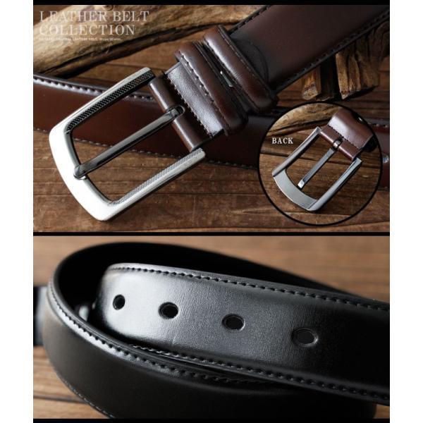ベルト 本革 メンズ 牛革 レザー 大きいサイズ シンプルデザイン カジュアル ジーンズ ビジネス 選べる6タイプ|asianarts|10