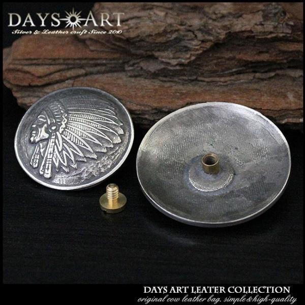 コンチョ メタル 合金 ネジ式 パーツ ボタン カスタム インディアンコンチョ 浮き彫り ネイティブアメリカン サークル|asianarts|02