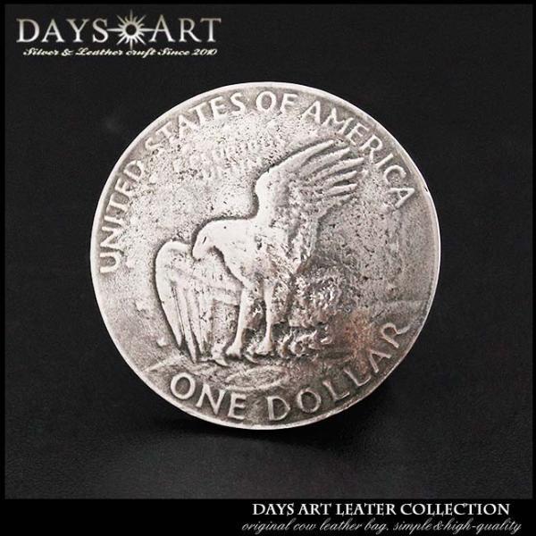 コンチョ メタル 合金 ネジ式 パーツ ボタン カスタム 1ドル硬貨 イーグル ワシ コイン 丸型 サークル