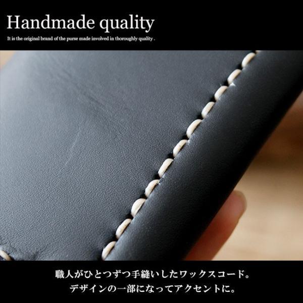 カードケース レザー 本革 定期入れ シンプルデザイン 三つ折り ワックスコード|asianarts|04