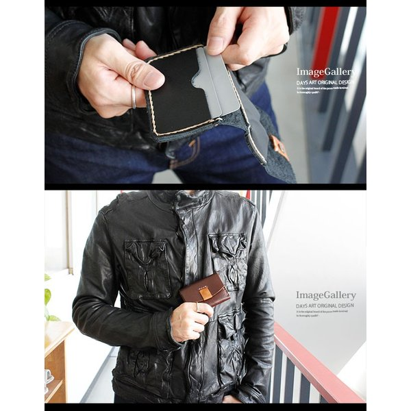カードケース レザー 本革 定期入れ シンプルデザイン 三つ折り ワックスコード|asianarts|09