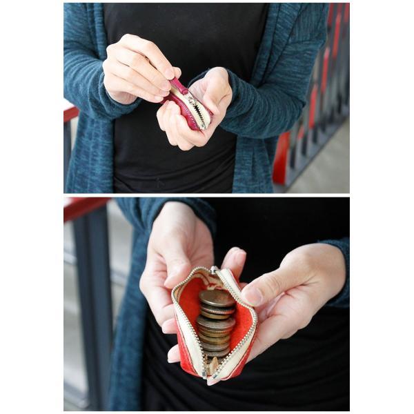 コインケース 小銭入れ レザー 本革 縦型 イタリアンレザー コンパクト シンプル おしゃれ 高級感|asianarts|13