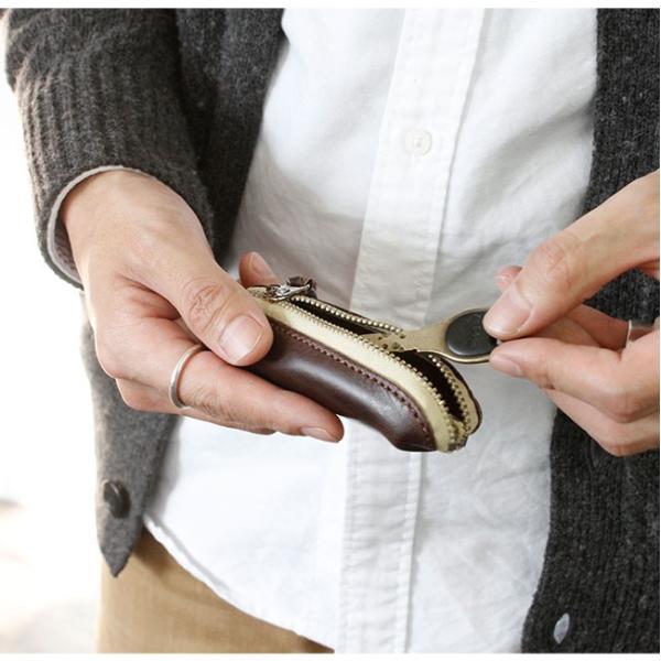 コインケース 小銭入れ レザー 本革 縦型 イタリアンレザー コンパクト シンプル おしゃれ 高級感|asianarts|15