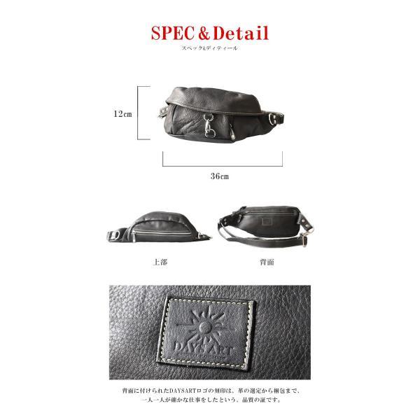ボディバッグ レザー メンズ 本革 大容量 ウエストバッグ 斜めがけ ワンショルダーバッグ ヒップバッグ|asianarts|03