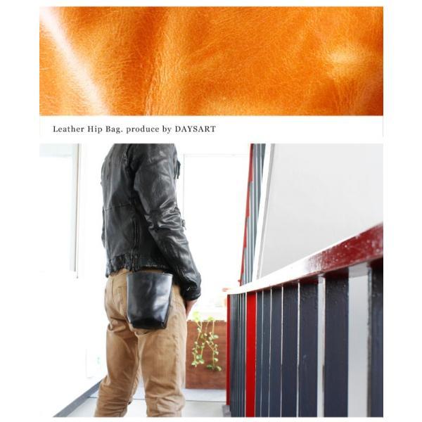 ベルトポーチ レザー メンズ 本革 シンプル ウエストバッグ ヒップバッグ シザーバッグ|asianarts|12