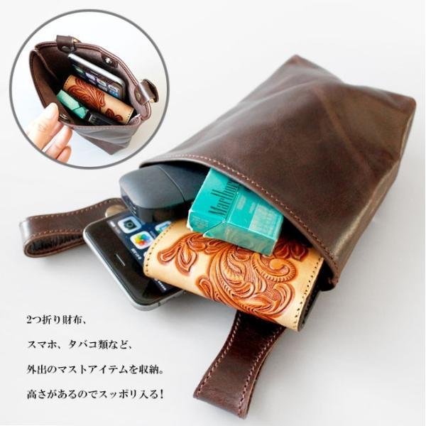 ベルトポーチ レザー メンズ 本革 シンプル ウエストバッグ ヒップバッグ シザーバッグ|asianarts|06