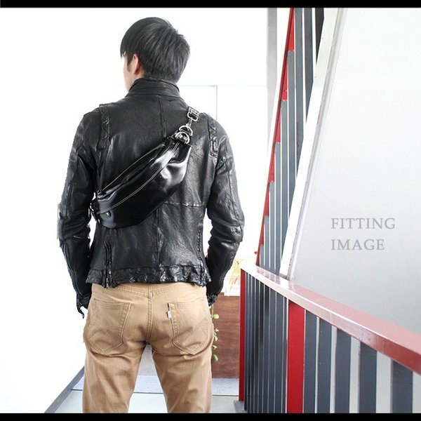 ボディバッグ レザー メンズ 本革 イタリアンレザー ファニーパック ウエストポーチ 斜めがけ ワンショルダーバッグ ヒップバッグ|asianarts|06