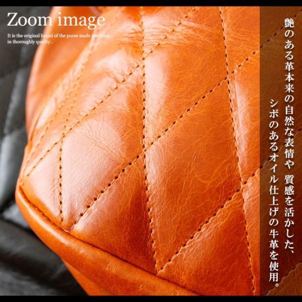 ボディバッグ レザー メンズ 本革 ファニーパック ウエストポーチ ウエストバッグ スリングバッグ 本革 キルティング|asianarts|03