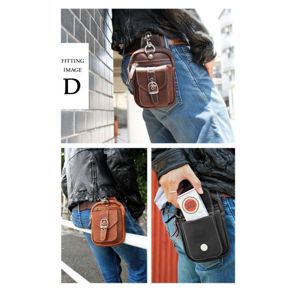 ベルトポーチ レザー メンズ 本革 ウエストバッグ iPhone8plus対応 スマホケース ヒップバッグ シザーバッグ|asianarts|11