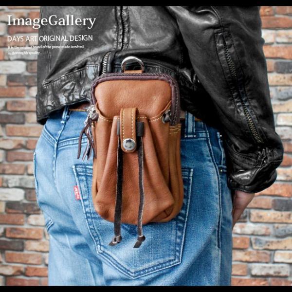 スマホケース iPhoneケース レザー マルチケース 本革 モバイルケース カーフスキン ハンドメイド 巾着ポケット|asianarts|08