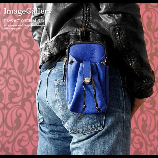 スマホケース iPhoneケース レザー マルチケース 本革 モバイルケース カーフスキン ハンドメイド 巾着ポケット|asianarts|10