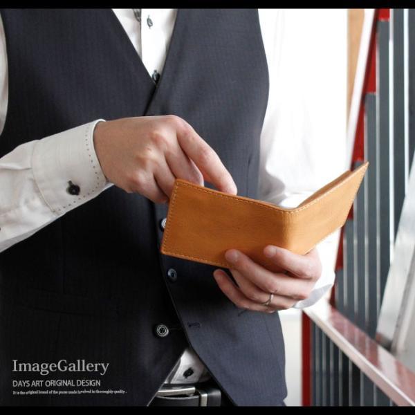 財布 二つ折り財布 メンズ レディース ユニセックス 本革 レザー レザーウォレット イタリアンレザー ヌメ革 ナチュラル|asianarts|13