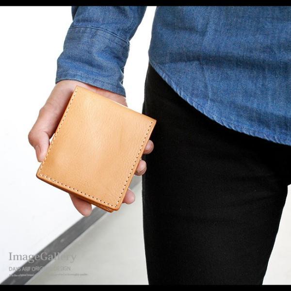 財布 二つ折り財布 メンズ レディース ユニセックス 本革 レザー レザーウォレット イタリアンレザー ヌメ革 ナチュラル|asianarts|14