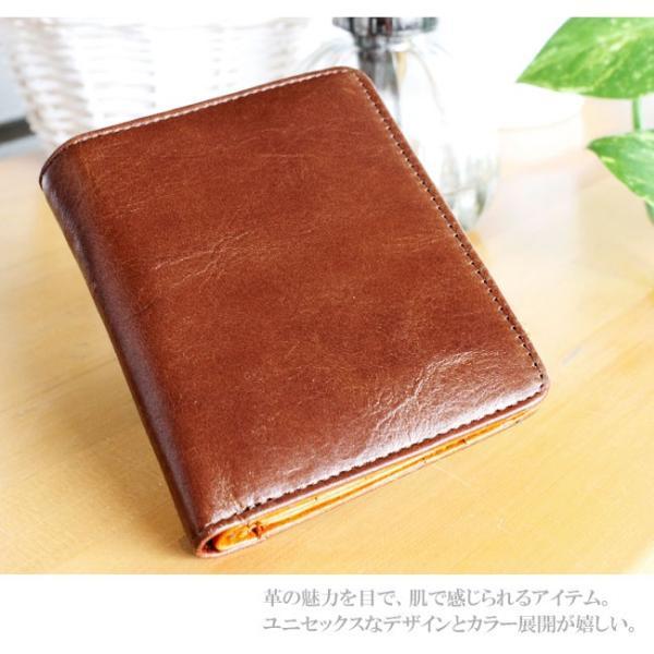 財布 二つ折り財布 メンズ レディース 本革 レザー ショートウォレット コンパクトウォレット バロンレザー|asianarts|04