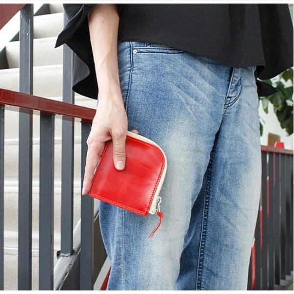 財布 ミニ財布 メンズ レディース 本革 イタリアンレザー ラウンドファスナー 小銭入れあり コンパクト スリム 小さい 薄い 機能性|asianarts|14