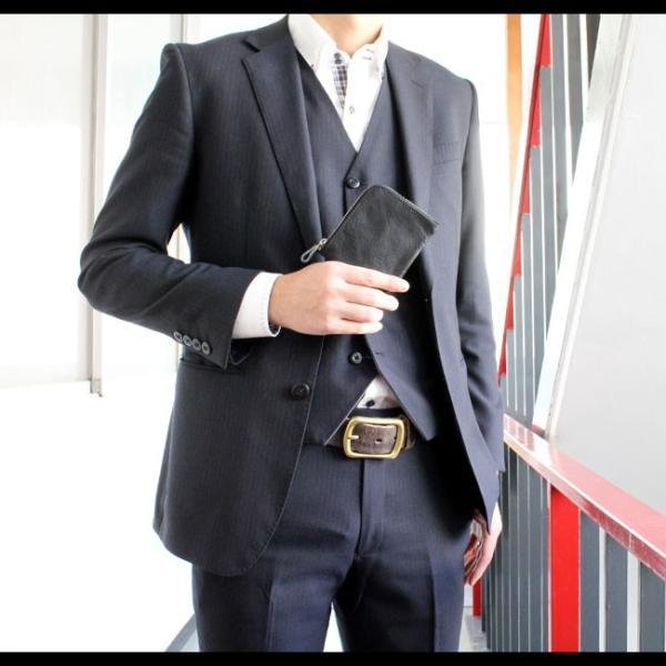 財布 ミニ財布 メンズ レディース ユニセックス 本革 レザー コンパクト スマート L字ファスナー ラウンドファスナー|asianarts|07