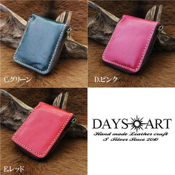 財布 二つ折り財布 メンズ レディース 本革 レザー ラウンドファスナー シンプル レザーウォレット|asianarts|05