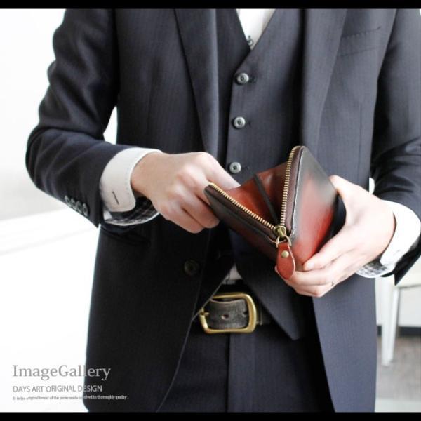 財布 長財布 メンズ レディース ユニセックス 本革 レザー ラウンドファスナー 焦がしレザー ビンテージ加工|asianarts|10