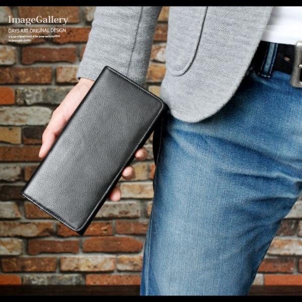 財布 長財布 メンズ レディース ユニセックス 本革 レザー 大容量 カード収納|asianarts|09