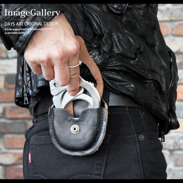 手錠 ハンドカフス レザーケース付 本革 シルバークロム 鍵付き ハロウィン コスプレ|asianarts|09