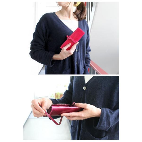 ペンケース 本革 ロール型ペンケース イタリアンレザー 三つ折り 革紐留め プルームテックケース|asianarts|14