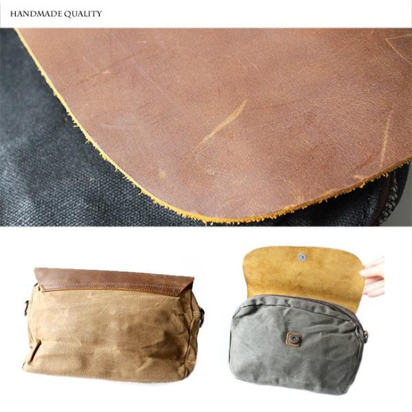 ショルダーバッグ クラッチバッグ ハンドバッグ 本革 キャンバス素材 斜めがけ シンプル コンパクト アウトドア トラベルバッグ asianarts 05