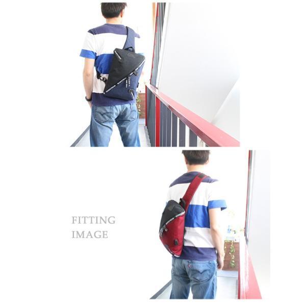 ボディバッグ USBポート ワンショルダーバッグ 斜めがけ スリングバッグ  軽量 充電 おしゃれ プレゼント|asianarts|11