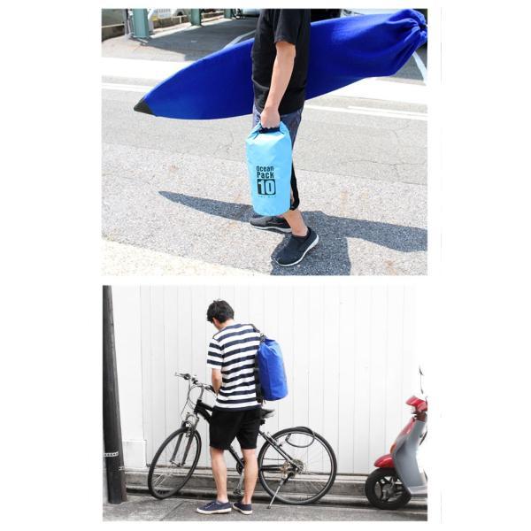 防水バッグ ドライバッグ 20L 2way ドラム型 ショルダーバッグ リュックサック 防災バッグ アウトドア|asianarts|13