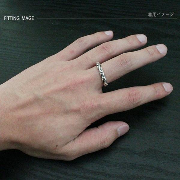 リング シルバー925 指輪 メンズ レディース アラベスク彫刻 シルバーリング|asianarts|04