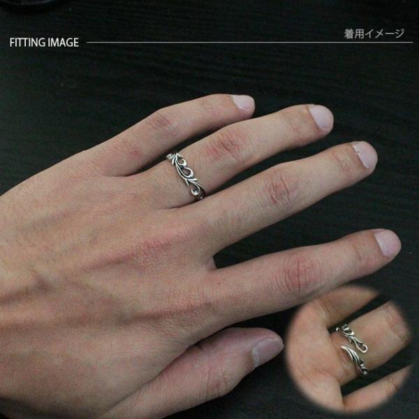リング シルバー925 指輪 メンズ レディース アラベスク サイズフリー|asianarts|04