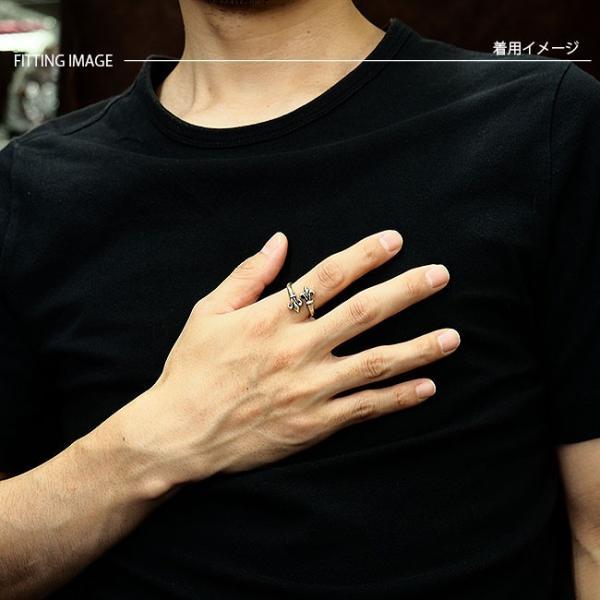 リング シルバー925 指輪 メンズ レディース 百合の紋章 ダブルトップ フレアリング サイズフリー|asianarts|05