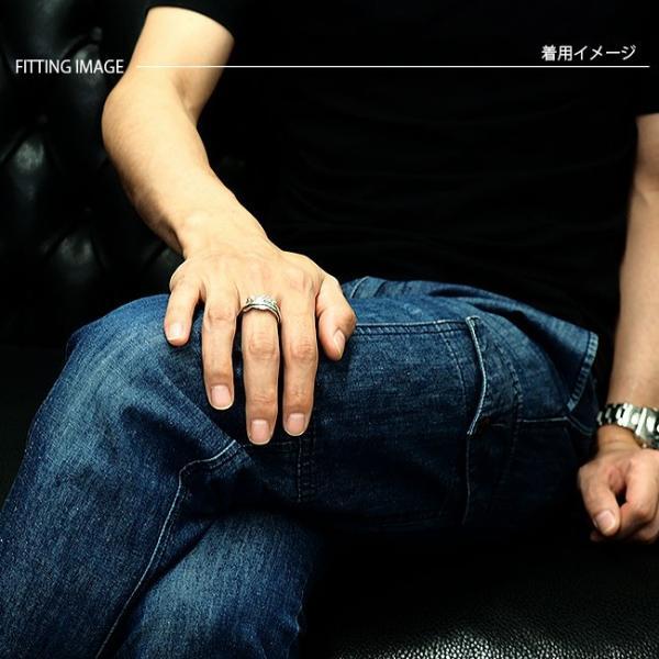 リング シルバー925 指輪 メンズ レディース フェザーリング ネイティブデザイン イーグルフェザー サイズフリー|asianarts|04