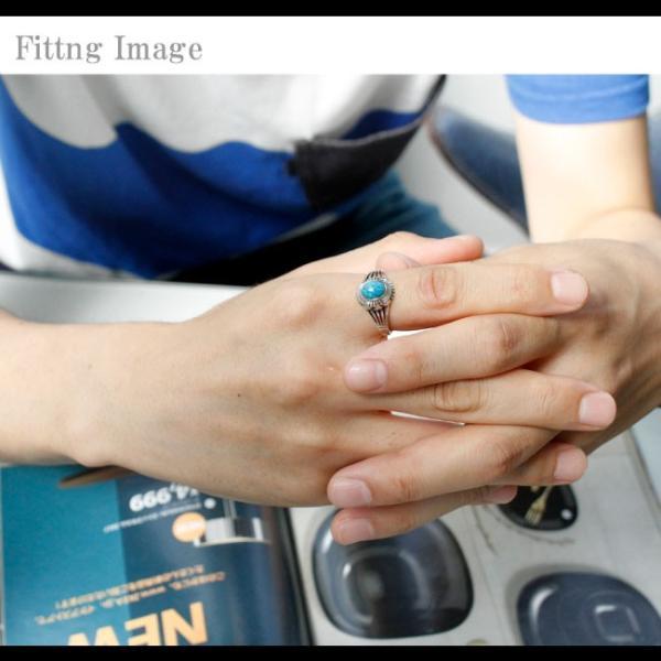 リング シルバー925 指輪 メンズ レディース ターコイズ オーバル型 ネイティブデザイン インディアンジュエリー 19号 21号 23号|asianarts|03