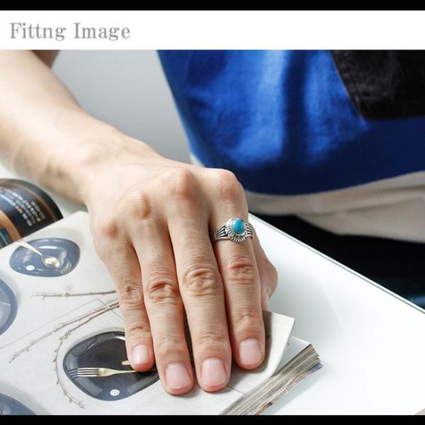 リング シルバー925 指輪 メンズ レディース ターコイズ オーバル型 ネイティブデザイン インディアンジュエリー 19号 21号 23号|asianarts|04