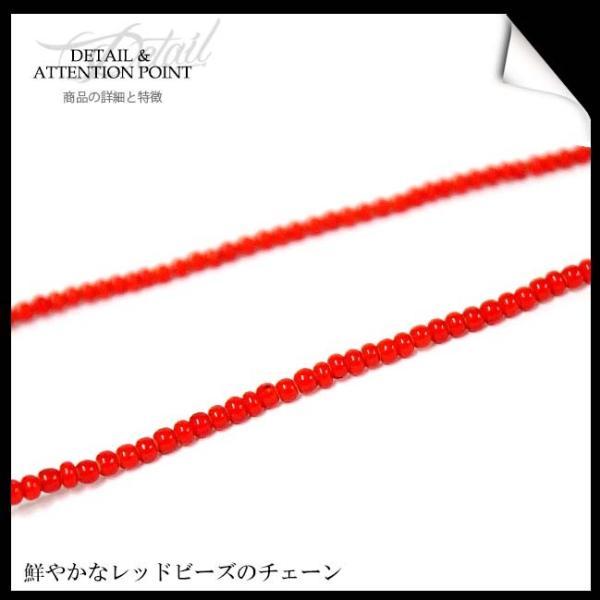 ネックレス メンズ レディース カレン族 カレンシルバーネックレス 4連トップ 極小ホワイトハート|asianarts|04