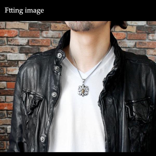ネックレス サージカルステンレス メンズ レディース 316L チェーン付き 百合の紋章 フレア|asianarts|05
