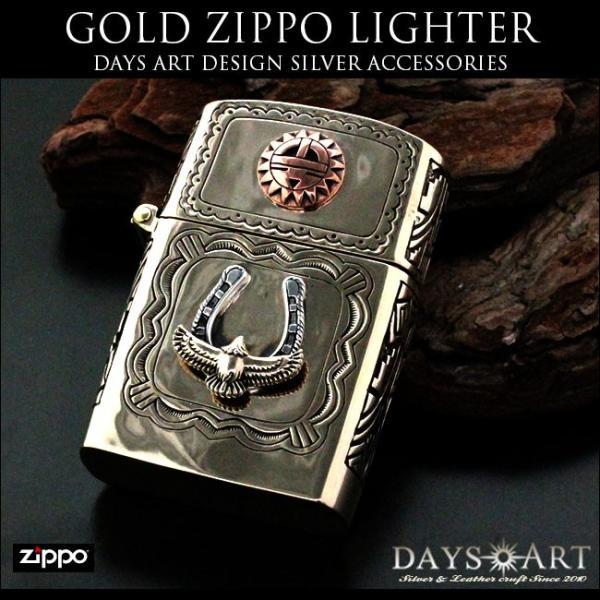 ZIPPO ライター オイルライター ブラス アーマージッポー イーグル ホースシュー サンフェイス|asianarts|02