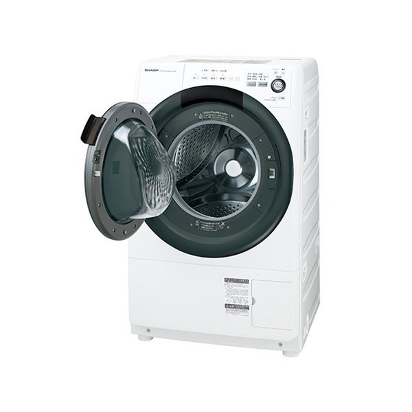 ES-S7D-WL(左開き) シャープ ドラム式洗濯乾燥機【お急ぎ便】