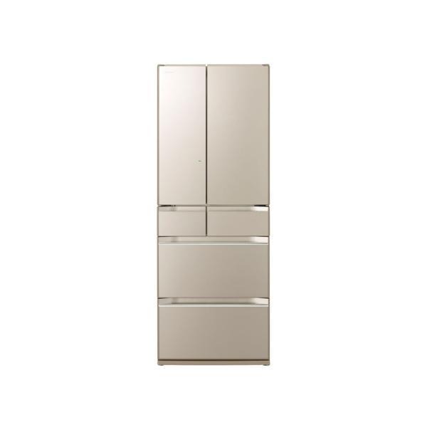 日立 冷蔵庫 567L 真空チルド R-KW57K-XN(ファインシャンパン)【標準設置無料】