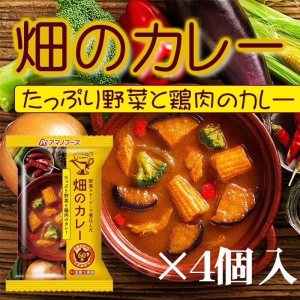 アマノフーズ フリーズドライ 畑のカレー たっぷり野菜と鶏肉のカレーX4個 (インスタント 即席)