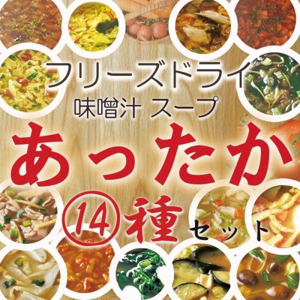 フリーズドライ 和洋中のあったかスープ&味噌汁 14種28食 フリーズドライ食品  定番の味から個性派の味のアソートセット お試し ギフト|asianlife