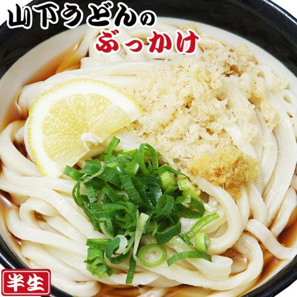 讃岐うどん 山下のぶっかけうどん 2食入(半生麺、箱)常温保存