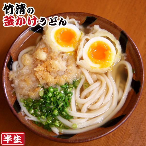 讃岐うどん 竹清釜かけうどん 2食入(半生麺、箱) 常温保存