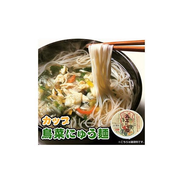 フリーズドライ 鳥菜にゅう麺 カップ 66g×4カップ(にゅうめん) 坂利製麺所|asianlife