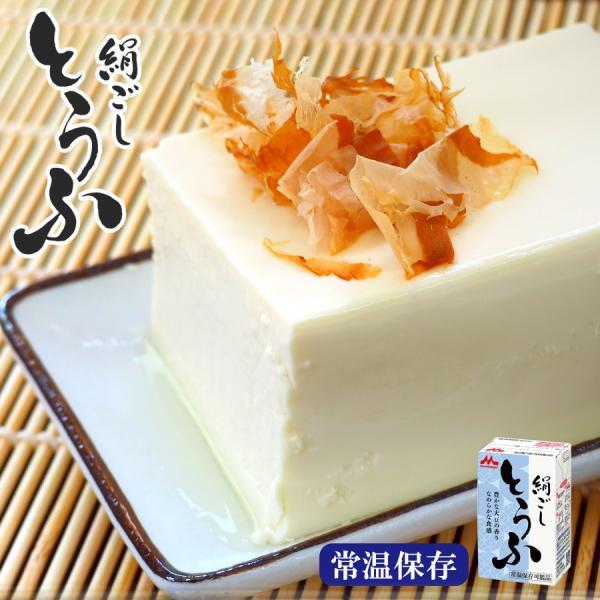 常温長期保存 絹ごし豆腐290g 森永とうふ 丸大豆 ロングライフ豆腐|asianlife