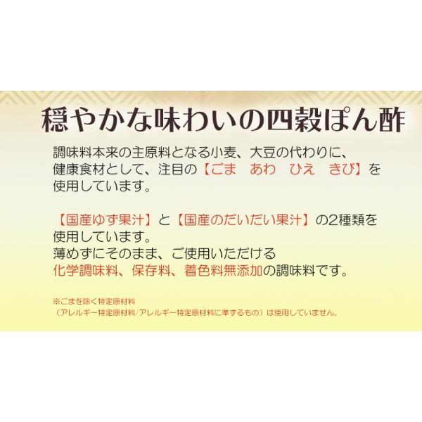 にんべん 四穀ぽん酢 200ml グルテンフリー 小麦 大豆不使用 無添加 ポン酢  酸味ひかえめ|asianlife|06