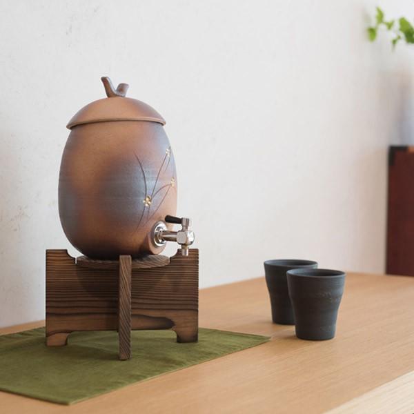 信楽焼 焼酎サーバー 七寸長series 火色金小紋 2.2L/s10-7 明山陶業 asiantyphooon 06