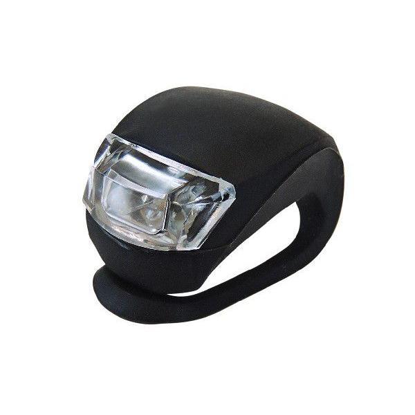 apt' シリコン サイクルライト ヘッドライト(自転車用 LED ライト ) (ブラック) 送料無料|asiapacifictrading